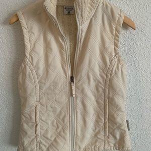 Columbia quilted sweater zip vest